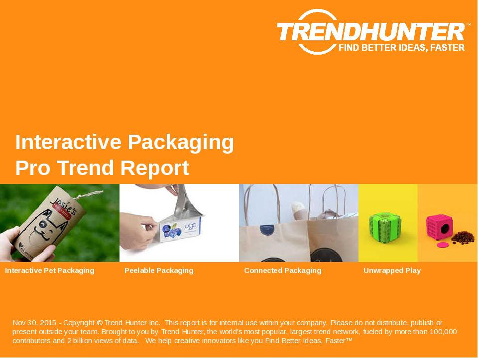 Interactive Packaging Trend Report Research