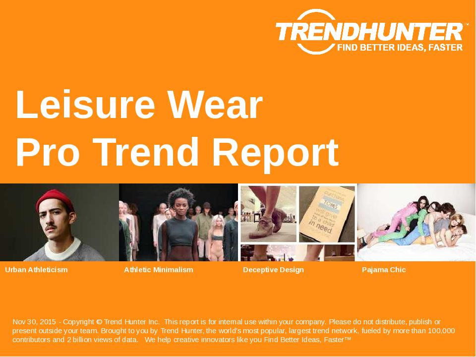 Leisure Wear Trend Report Research