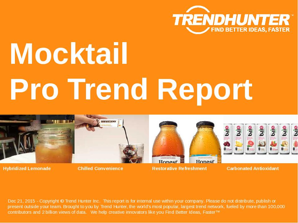 Mocktail Trend Report Research