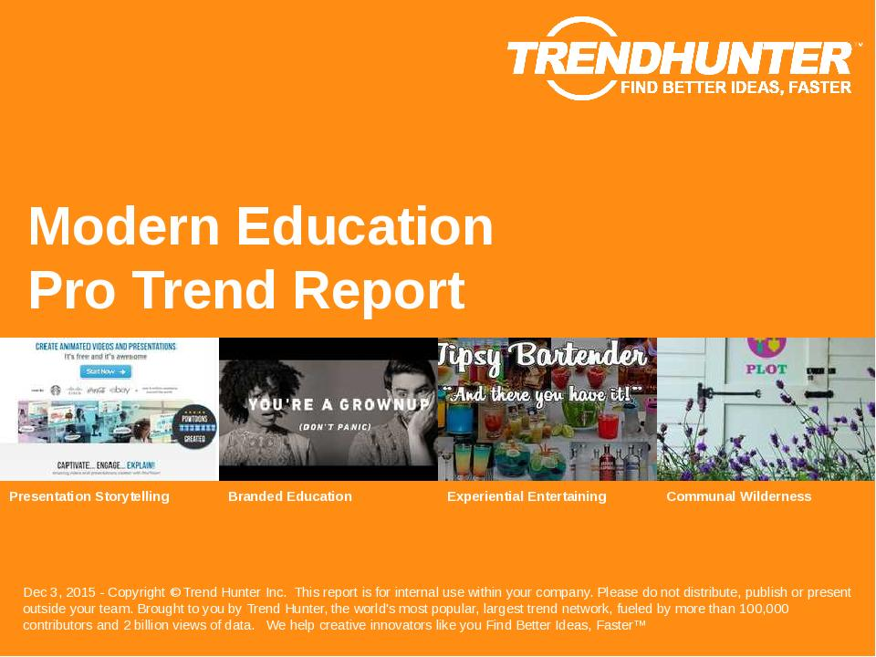 Modern Education Trend Report Research