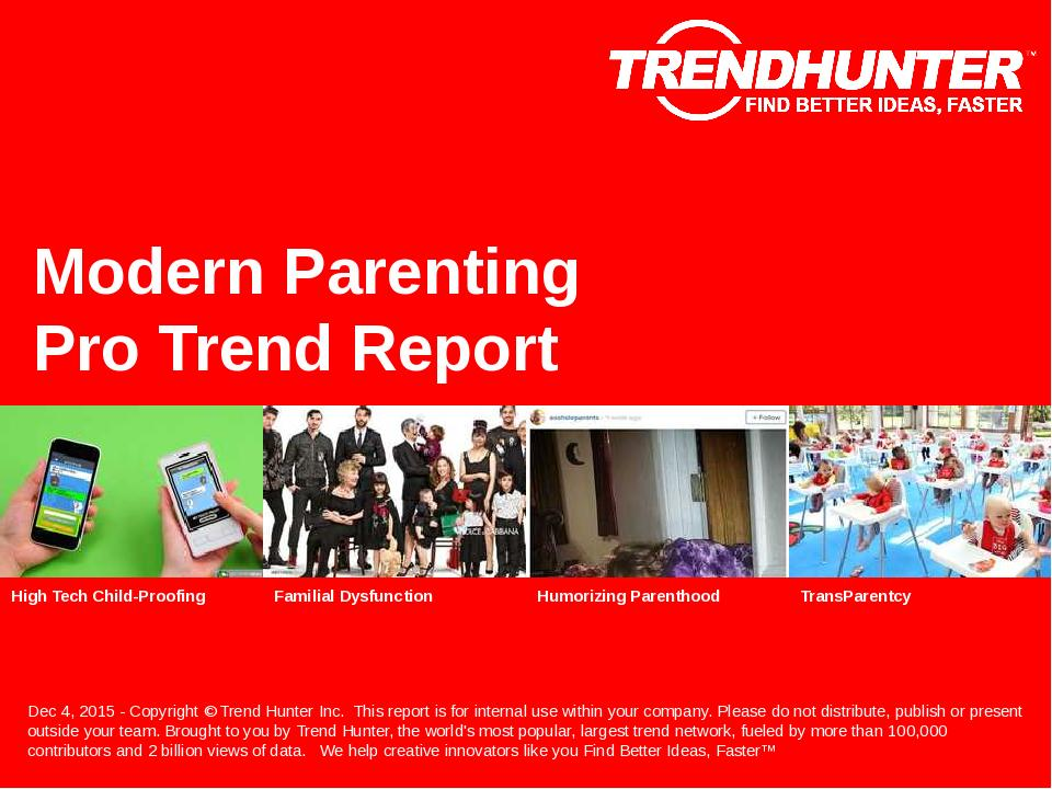 Modern Parenting Trend Report Research
