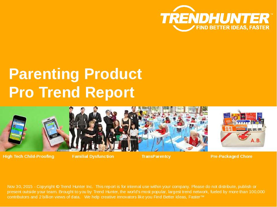 Parenting Product Trend Report Research