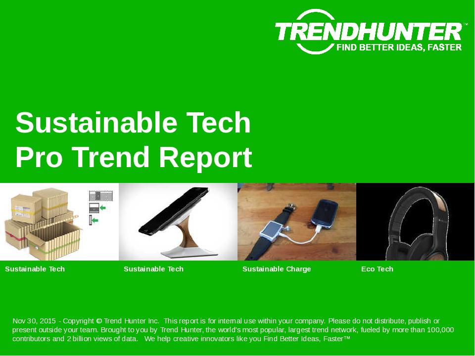 Sustainable Tech Trend Report Research