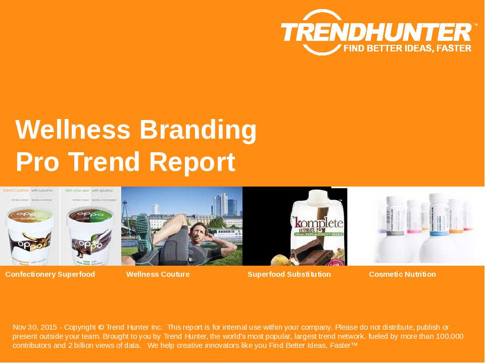 Wellness Branding Trend Report Research