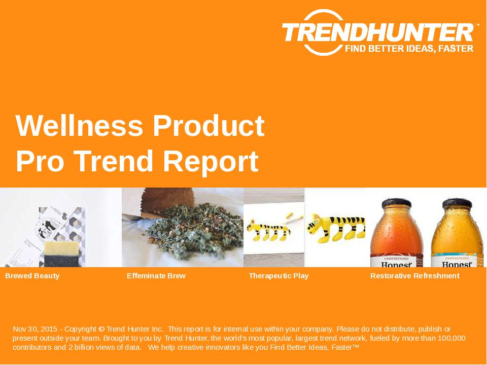 Wellness Product Trend Report Research
