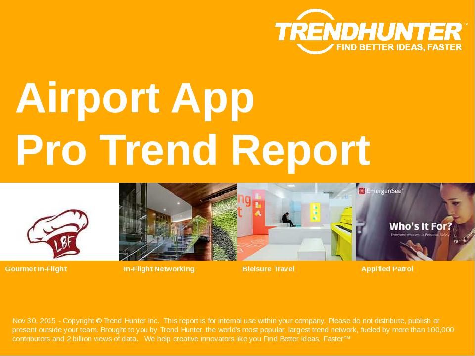 Airport App Trend Report Research
