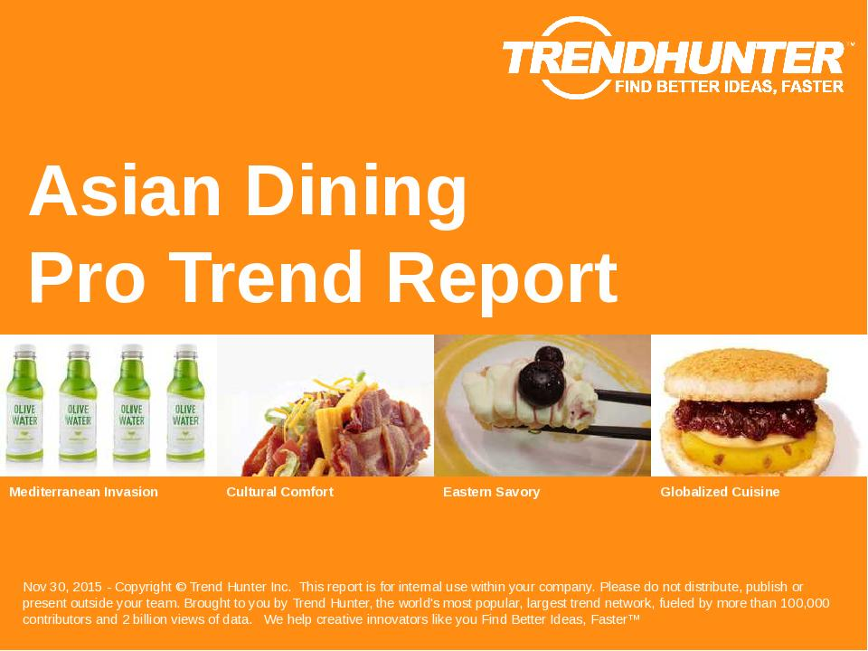 Asian Dining Trend Report Research