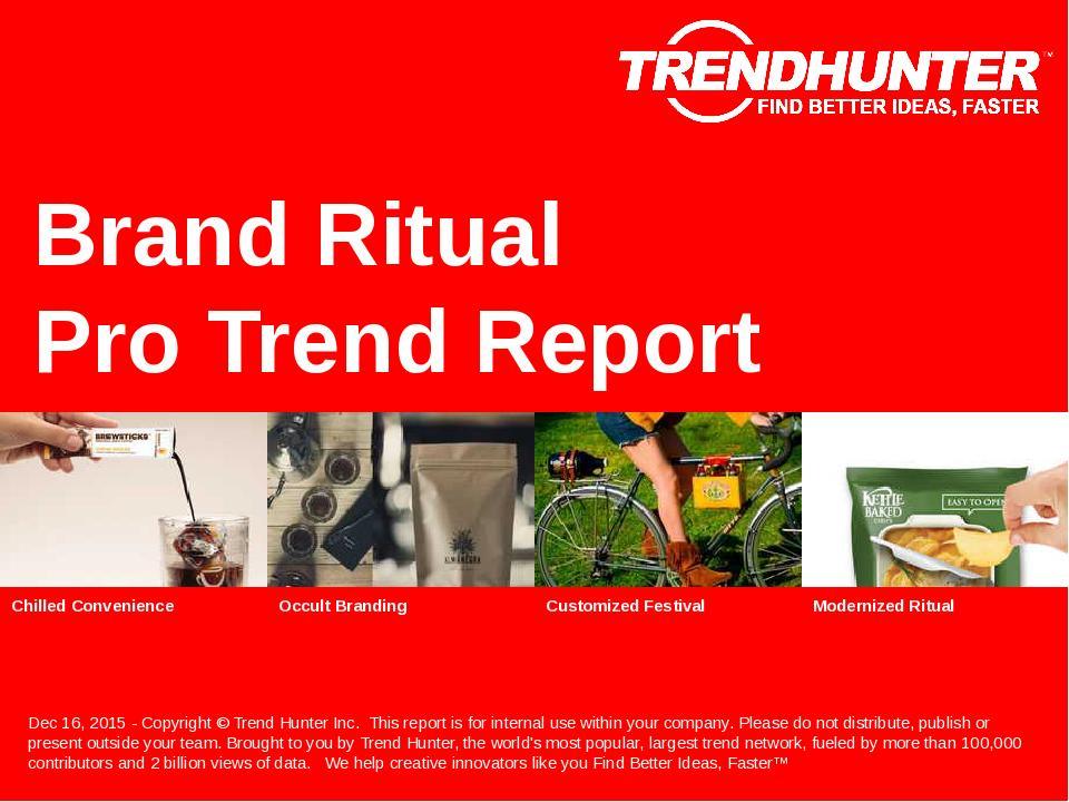Brand Ritual Trend Report Research