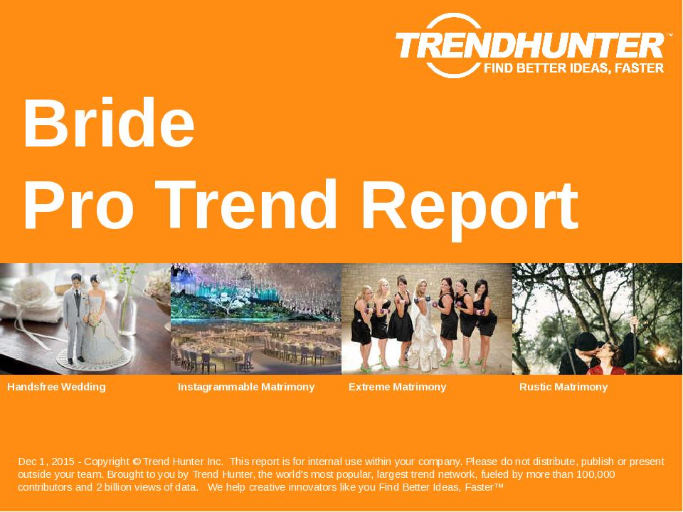 Bride Trend Report Research