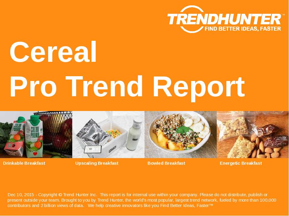 Cereal Trend Report Research
