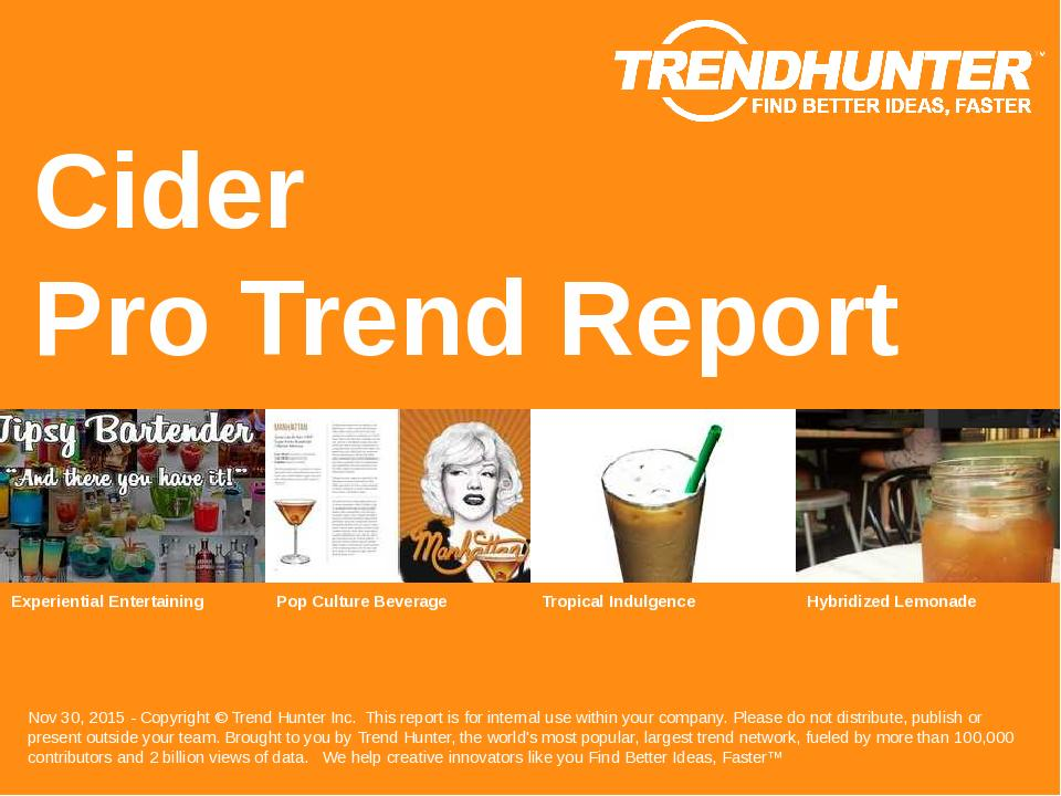 Cider Trend Report Research
