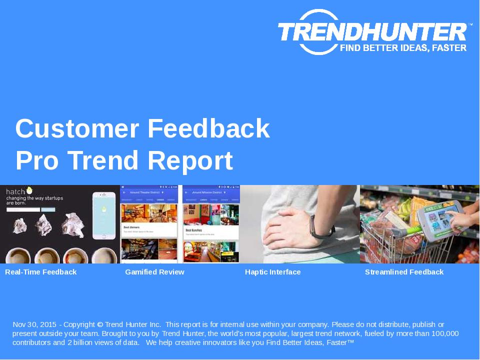 Customer Feedback Trend Report Research