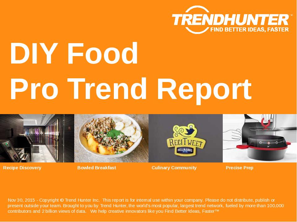 DIY Food Trend Report Research