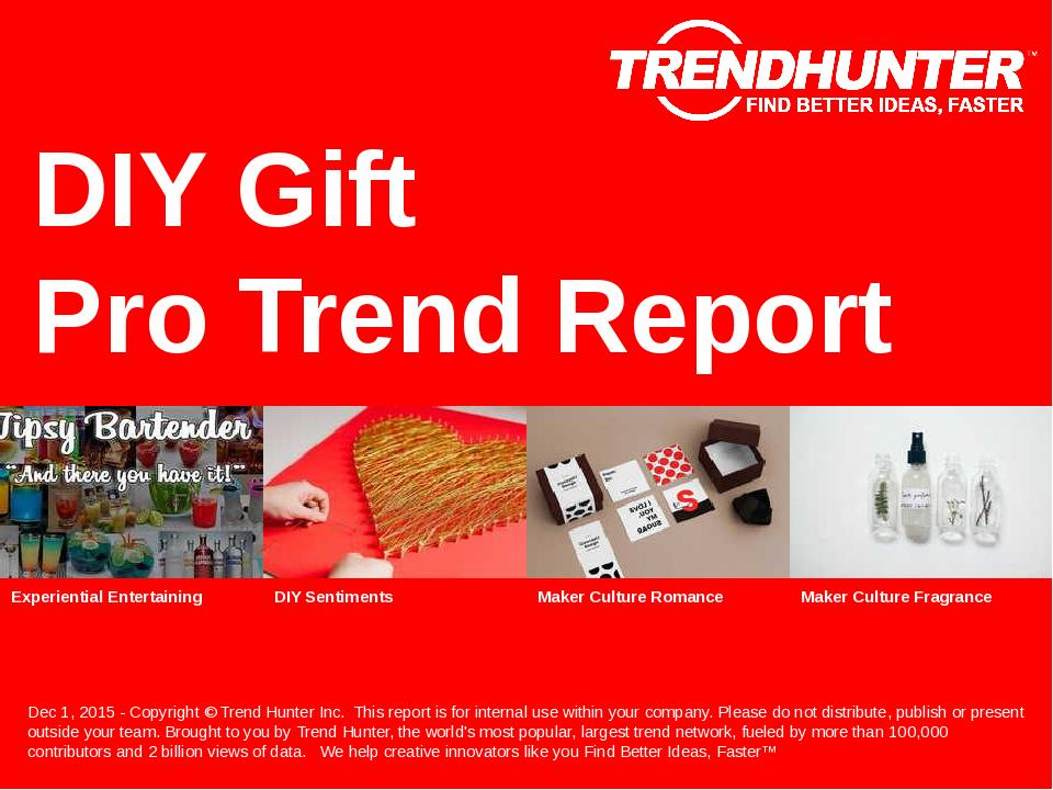 DIY Gift Trend Report Research