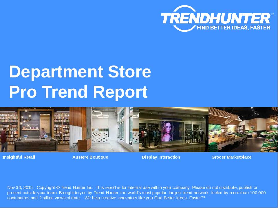 Department Store Trend Report Research