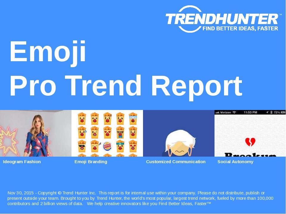 Emoji Trend Report Research