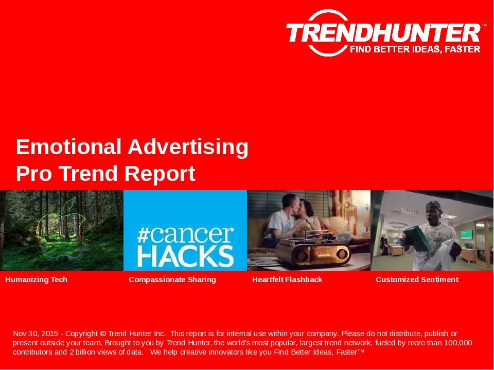 Emotional Advertising Trend Report Research