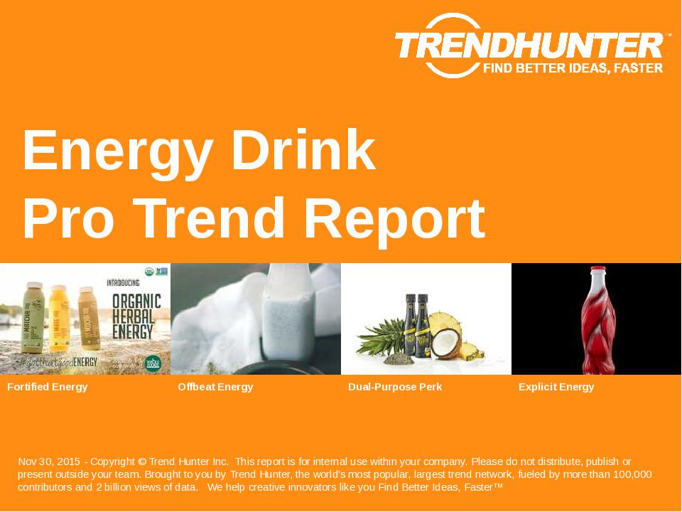Energy Drink Trend Report Research