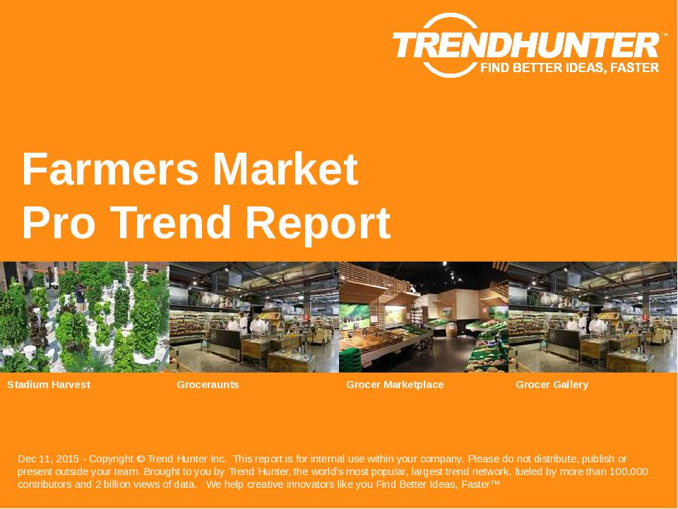 Farmers Market Trend Report Research