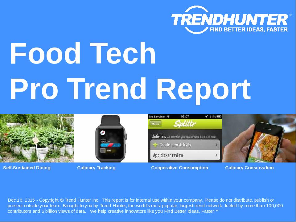 Food Tech Trend Report Research