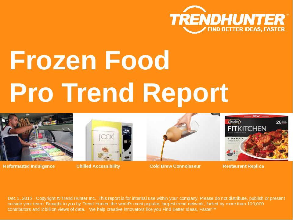Frozen Food Trend Report Research