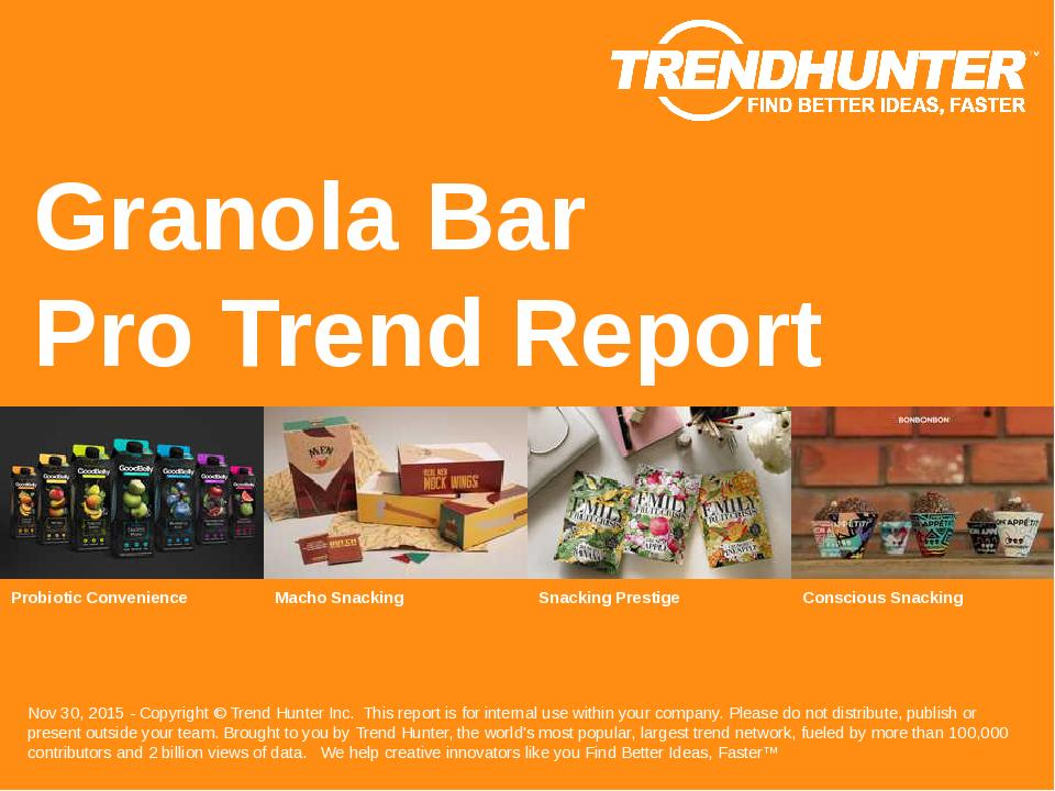 Granola Bar Trend Report Research