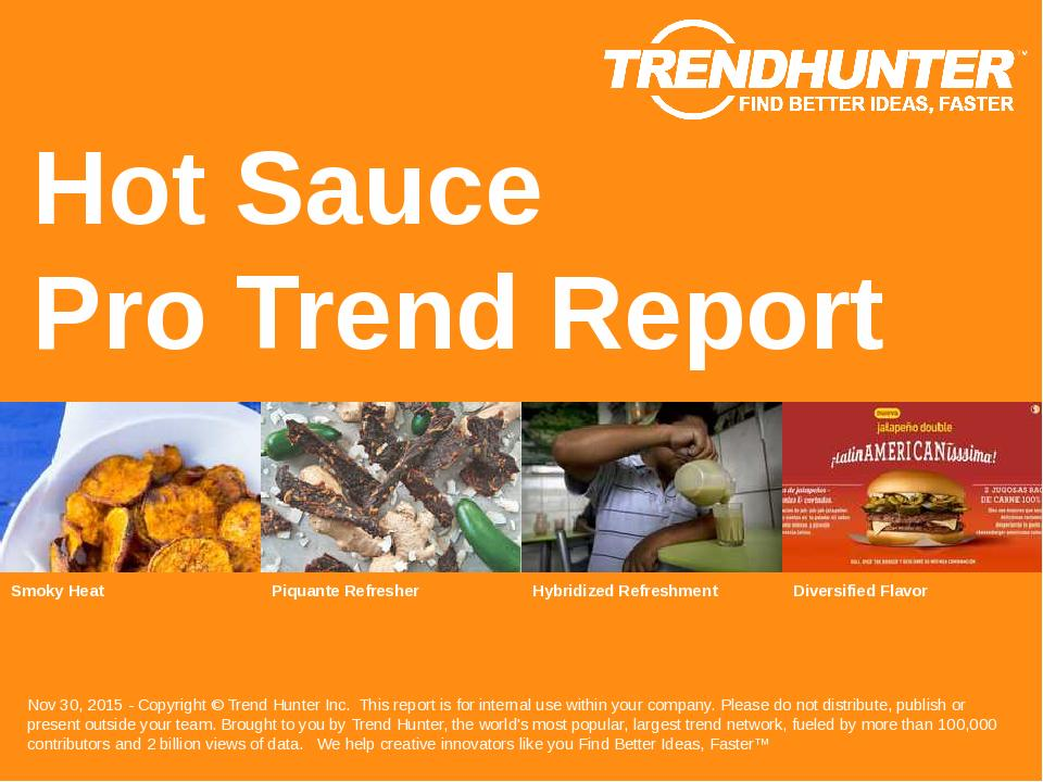 Hot Sauce Trend Report Research