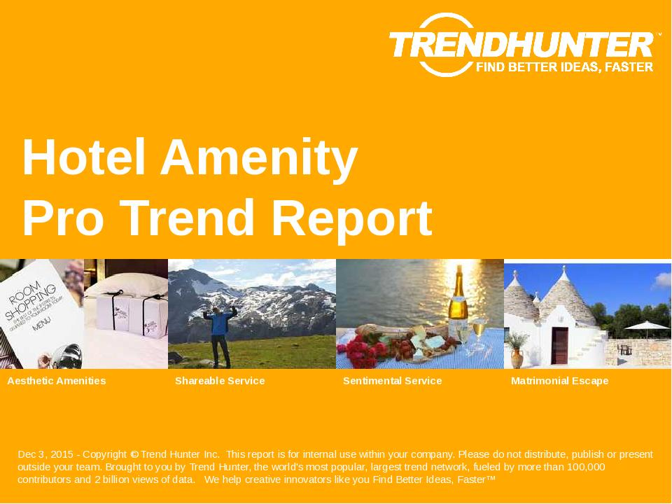 Hotel Amenity Trend Report Research