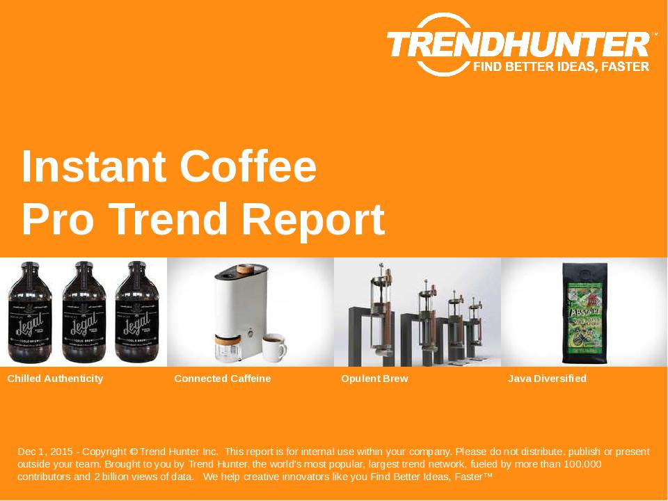 Instant Coffee Trend Report Research