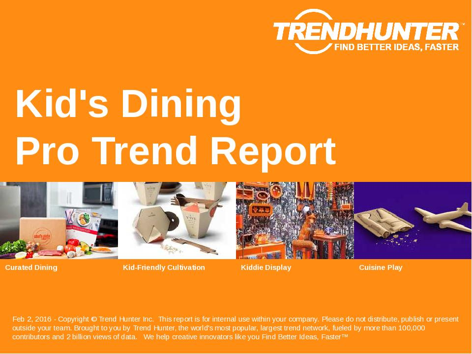 Kids Dining Trend Report Research
