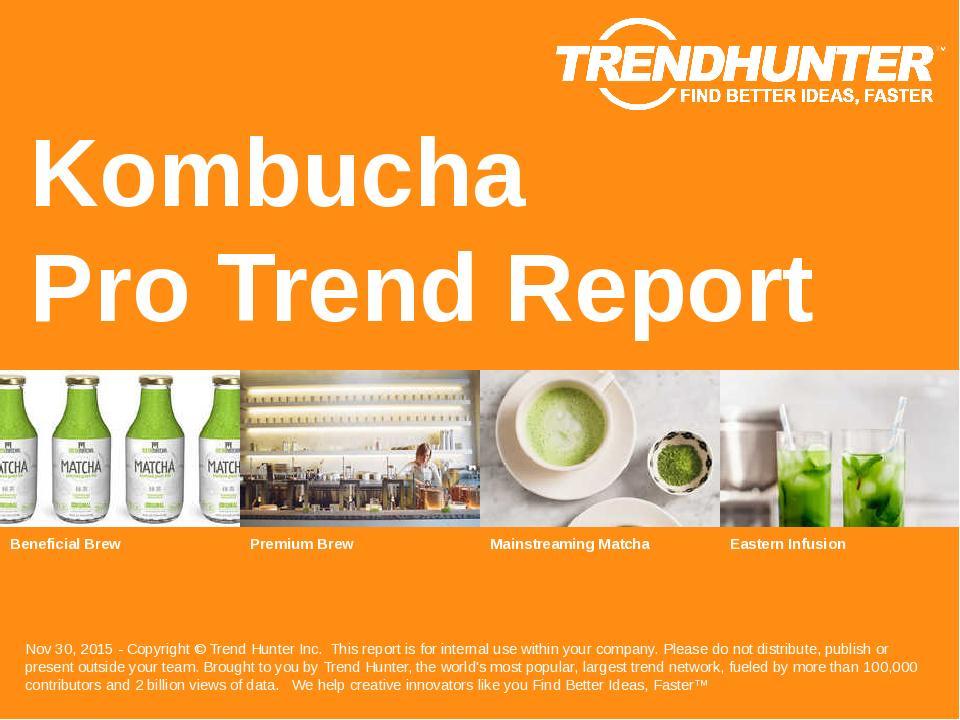 Kombucha Trend Report Research