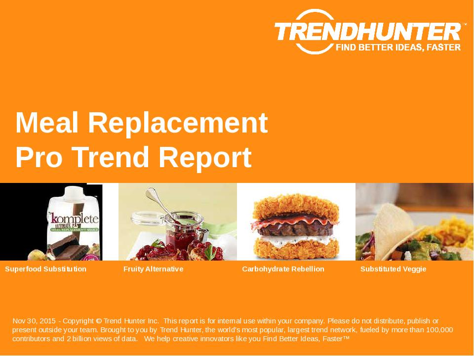 Meal Replacement Trend Report Research