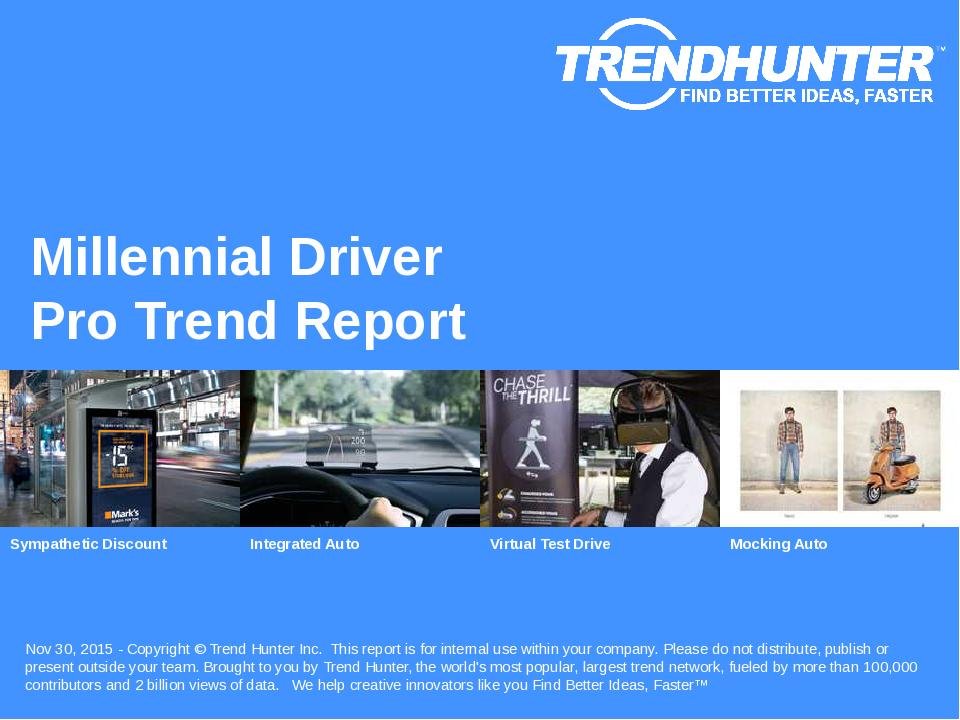 Millennial Driver Trend Report Research