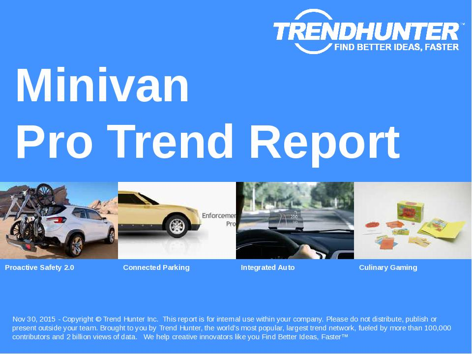 Minivan Trend Report Research