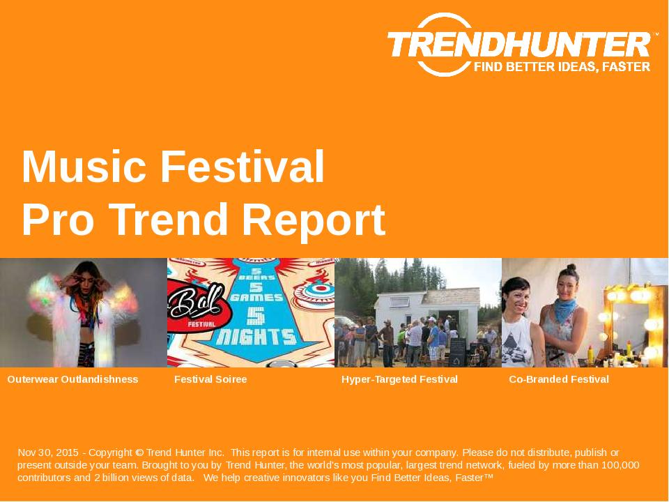 Music Festival Trend Report Research