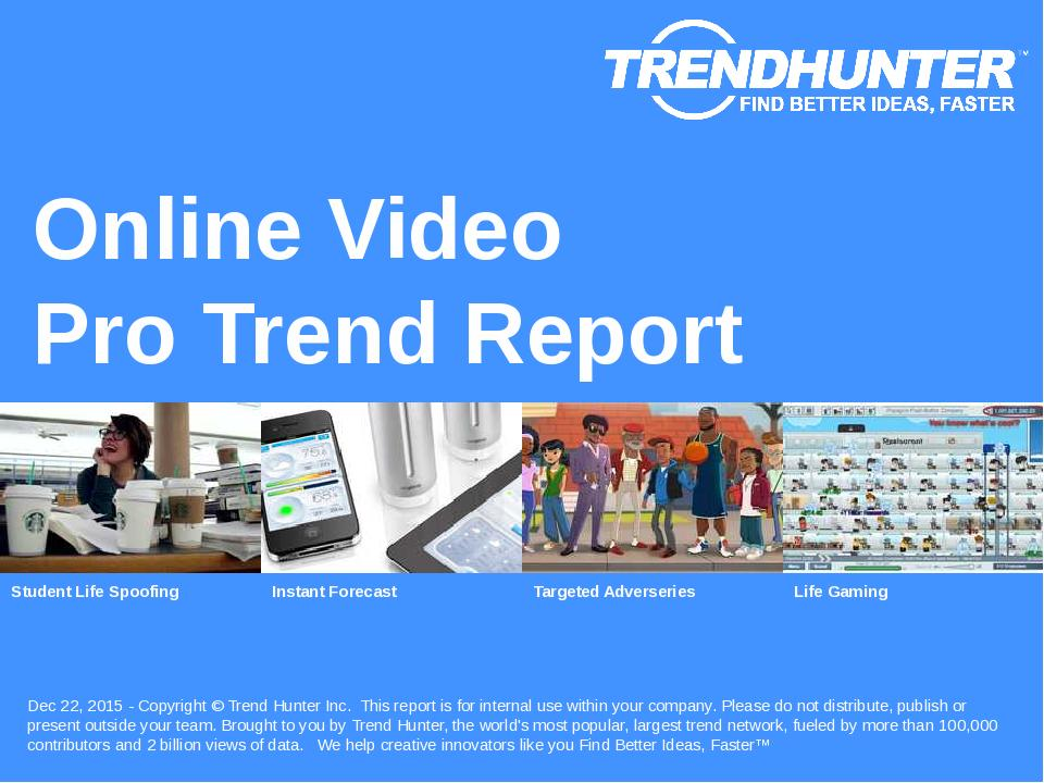Online Video Trend Report Research