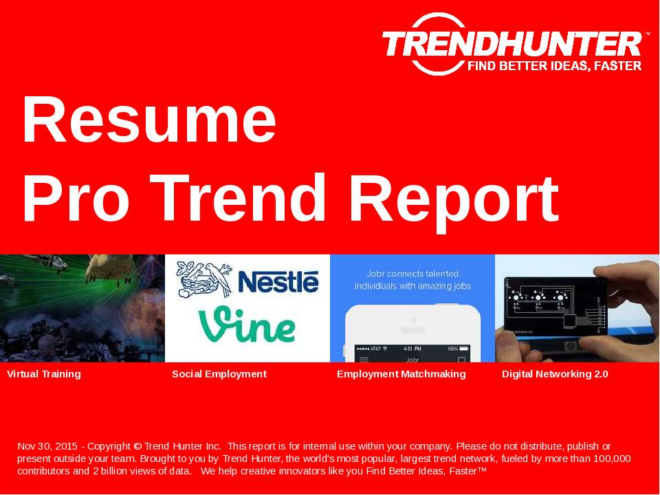 Resume Trend Report Research