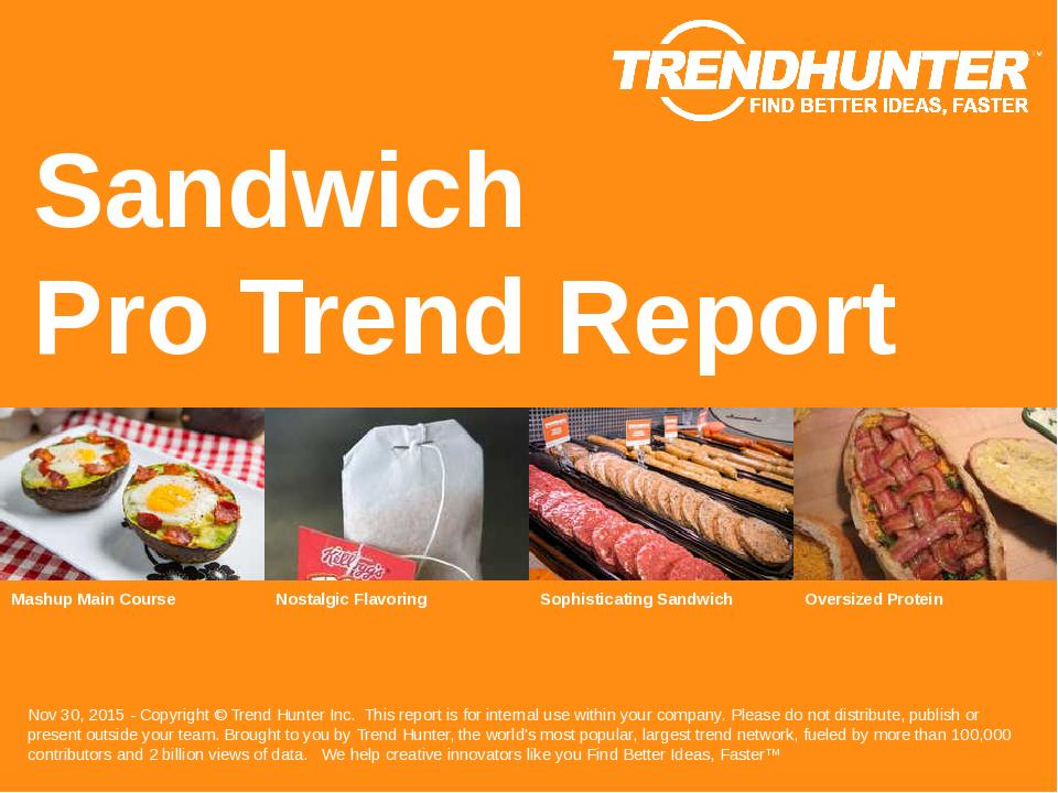 Sandwich Trend Report Research