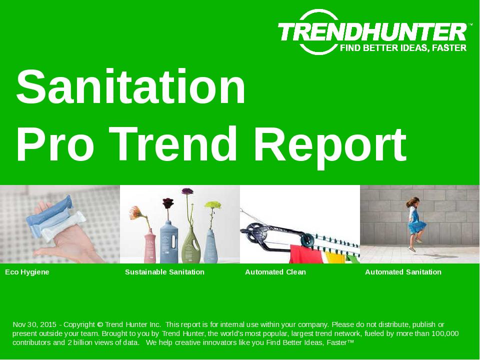 Sanitation Trend Report Research