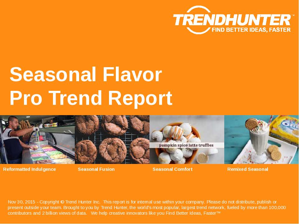 Seasonal Flavor Trend Report Research