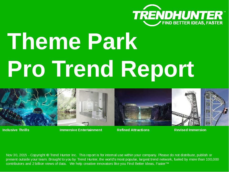Theme Park Trend Report Research