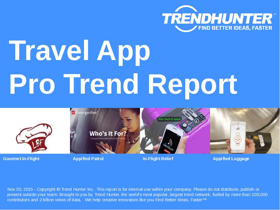 Travel App Trend Report Research