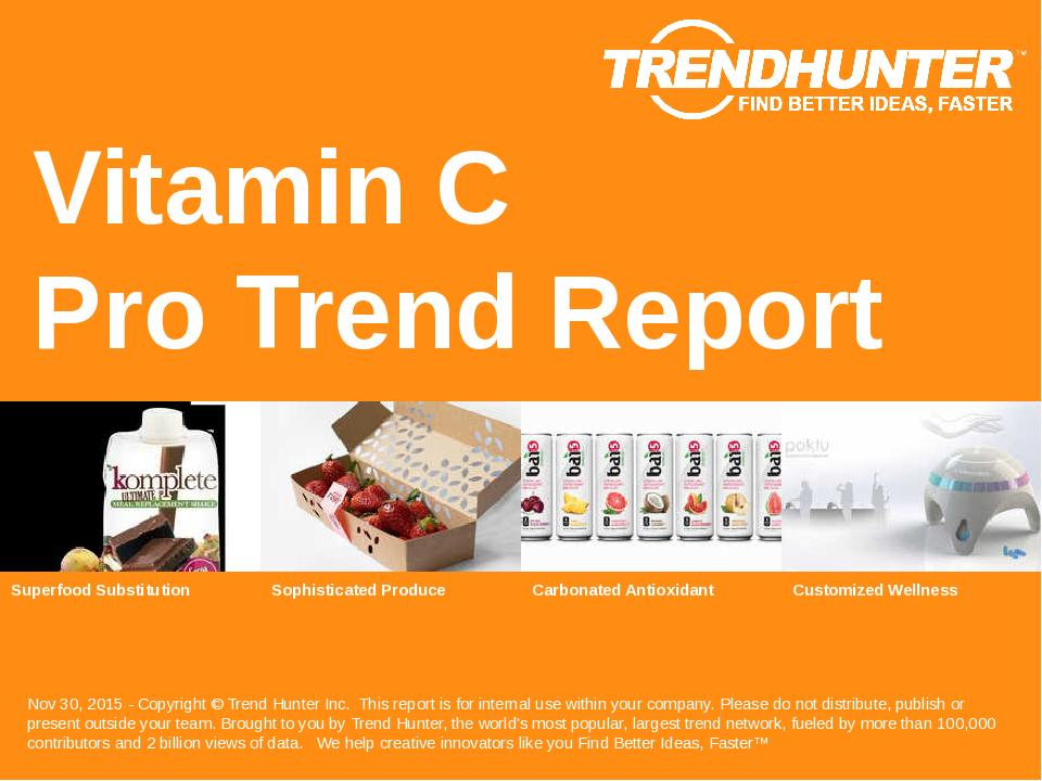 Vitamin C Trend Report Research