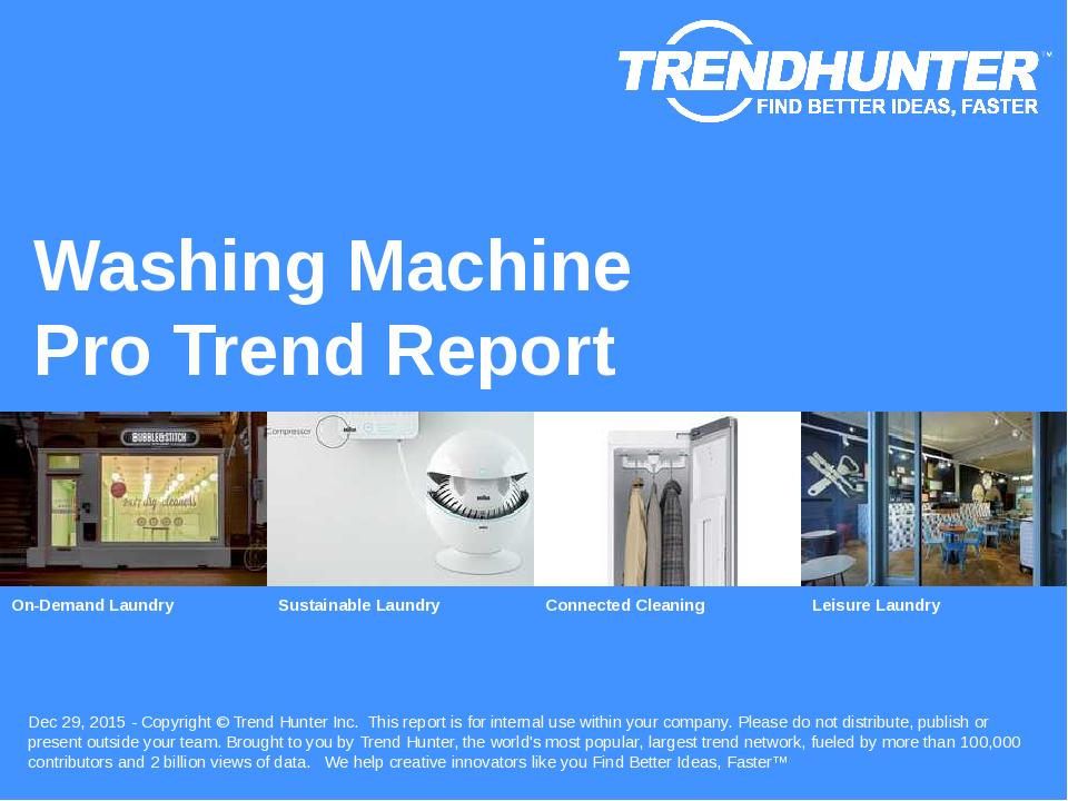 Washing Machine Trend Report Research