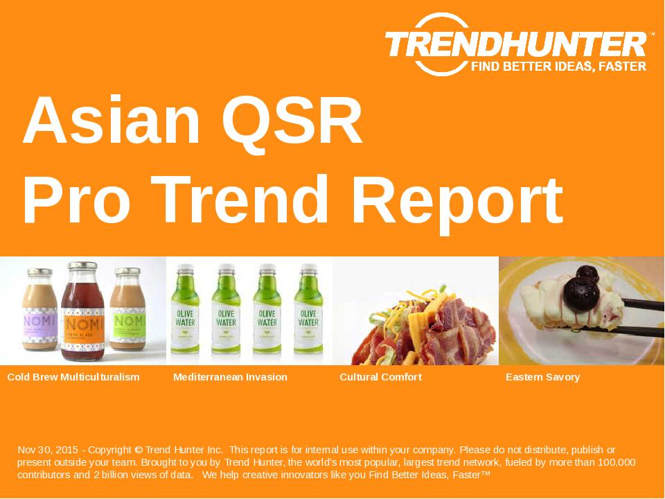 Asian QSR Trend Report Research