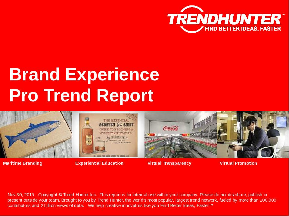 Brand Experience Trend Report Research