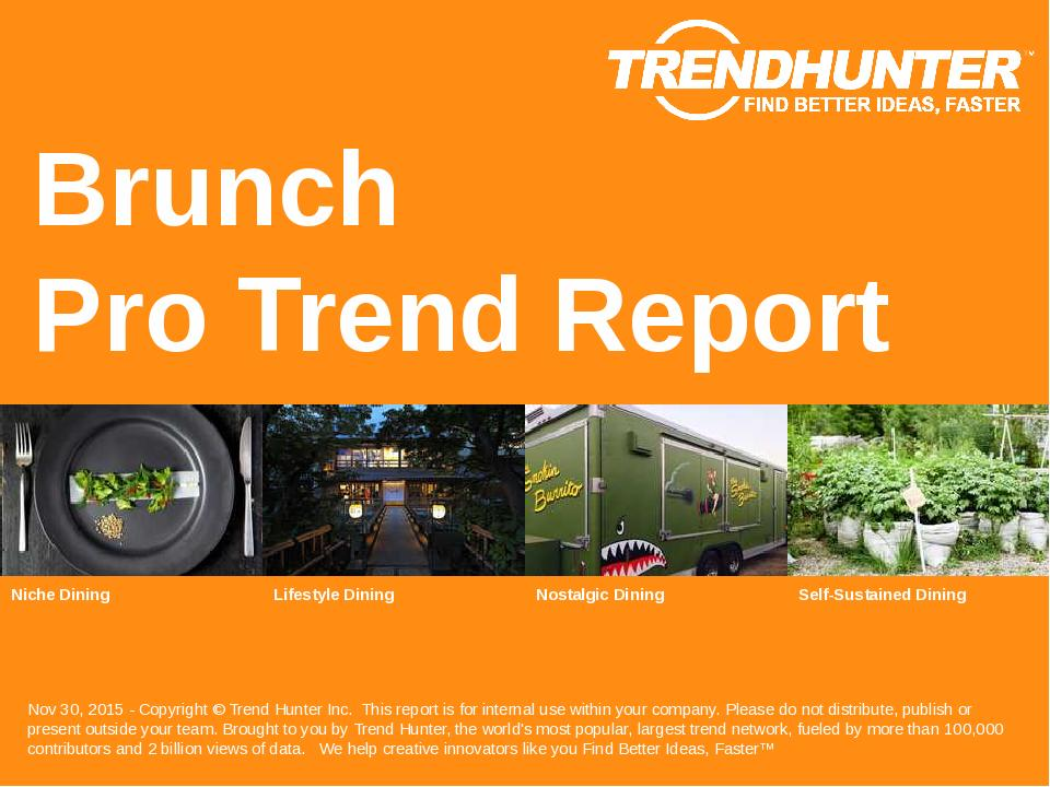 Brunch Trend Report Research