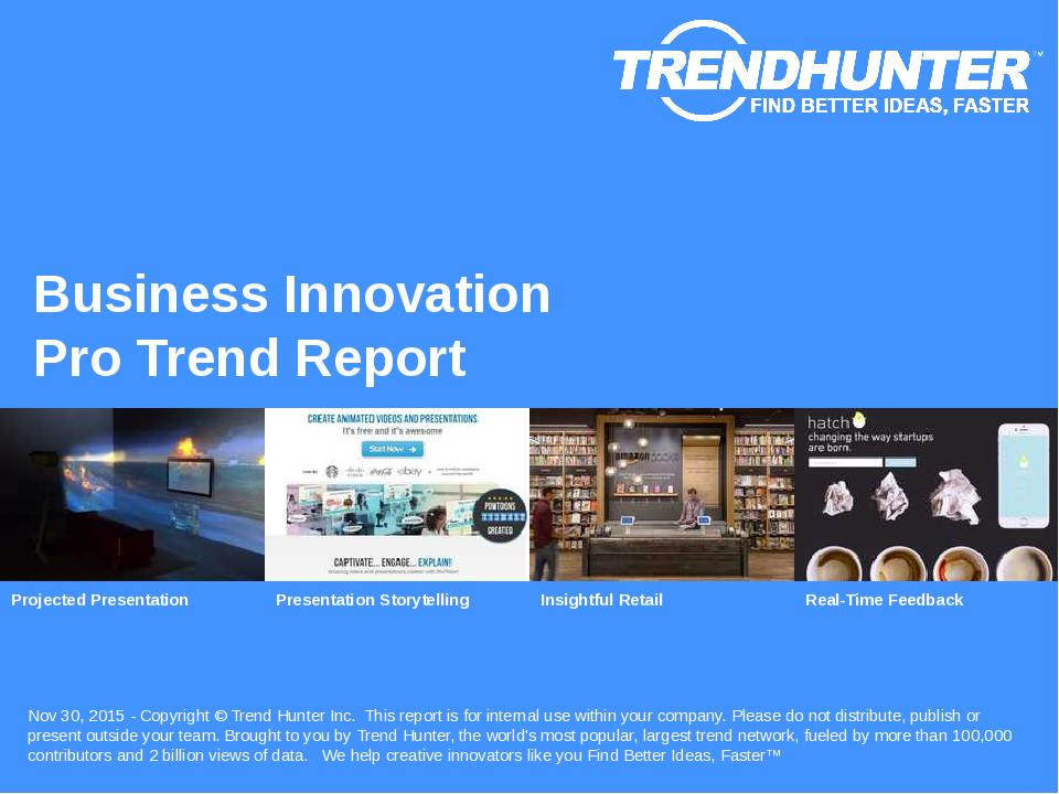 Business Innovation Trend Report Research