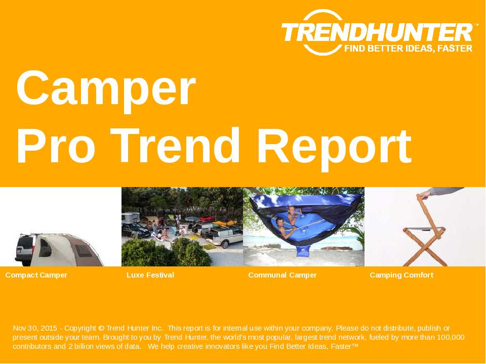 Camper Trend Report Research