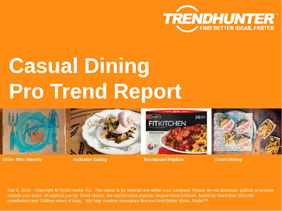 Casual Dining Trend Report Research